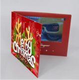 Cartolina d'auguri dello schermo dell'affissione a cristalli liquidi di natale video