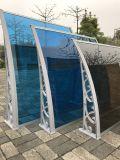 De hete Plastic Luifel van het Polycarbonaat DIY van de Prijs van de Fabriek van de Verkoop Openlucht met medio-Bevestigt Staaf