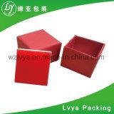 Caixa de empacotamento da jóia de madeira de couro de papel feita sob encomenda da caixa da caixa de armazenamento da colar do relógio do anel