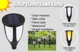 안뜰 갑판 Driveway를 위한 방수 Flickering Flames Torches Lights Outdoor Solar Spotlights Landscape Decoration