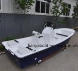 Barco de pesca da fibra de vidro do barco de motor 50HP externo de Liya 5.8m