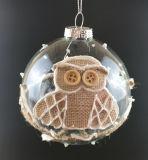 Ornamento de cristal de la Navidad para el árbol de navidad (LCP-A-00015)