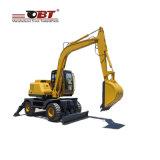 6ton Obtの中国からの小型油圧車輪の掘削機