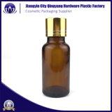 Oro de 30ml de aceite esencial de galvanoplastia Frasco gotero de vidrio