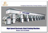 Imprensa de impressão automática do Rotogravure com movimentação de eixo eletrônica (DLYA-81000D)