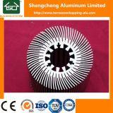 La flor de Sun del surtidor de China sacó disipador de calor de enfriamiento del perfil de aluminio