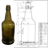 Frasco de vinho de vidro redondo verde da alta qualidade 500ml