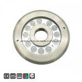 Protección IP68 36W 316ss LED RGB de tierra seca bajo el agua de la luz de la fuente