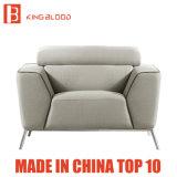 Italienische moderne Land-weißes Leder-Sofa-Möbel für Wohnzimmer