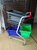 Kaufen 2 Schichten Korb-Laufkatze-