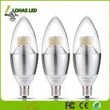 Bulbo blanco de la vela de la hora solar 5000K LED de la aprobación 6W (60W equivalente) Dimmable de RoHS del Ce de la UL