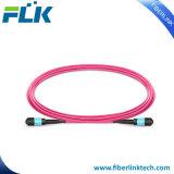 Sm/mm/OM3/OM4 MPO Fibra Óptica patch cord para MPO Cassette Module