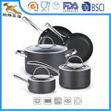 El OEM anodizó difícilmente el Cookware antiadherente de aluminio fijado (CX-AS0802)