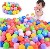 Bolas de colores hechas de plástico suave para niños, pelotas de plástico para niños