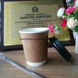 Professional fabricación barata café doble pared de la Copa de papel Kraft 8oz 12oz.
