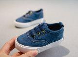 Caliente la venta de niños zapatos tamaño 18 a 33 niños y niñas de Jeans Unisex lona suela suave zapatos planos