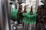 El frasco de cristal la cerveza el lavado Llenado y Tapado máquina