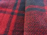 Tela hecha punto lanas falsas 100% del poliester Hw1569