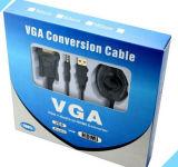 VGA di alta qualità di Elandphone all'adattatore del cavo del convertitore di HDMI con audio