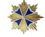 Zink-Legierungs-Goldmedaillen-Abzeichen-/Soft-Decklack Badgewith Qualität (YB-SM-34)