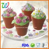 Carter de traitement au four de gâteau de bac de fleur de silicones de Resuable