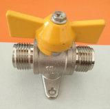 La conexión de manguera de gas en función de la válvula de bola de gas