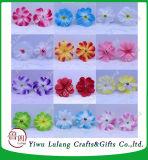 Frangipani artificial cabezas de flores de tela Plumeria Decoración de boda