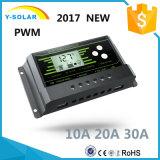 2017 régulateur solaire neuf Z20 du contre-jour Duel-USB de 20AMP 12V/24V