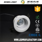 8 watt ad angolo LED Downlight, stanza da bagno registrabile Downlight, B & Q Downlight