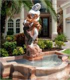 De Menselijke Snijdende Water Fontein van dame Statue Stand Flouring Stone