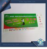 Marca de bilhete na brochura
