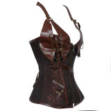Women Slimming Underbust Shaperwear Gothic Leather Waist coach Vest Shaper