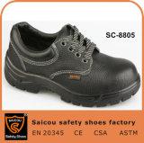 Самые дешевые ботинки безопасности Geniune кожаный с стальной крышкой пальца ноги