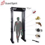 Detector de metales portable del marco de puerta de Detectiing de la moneda de la fuente de batería del detector de metales