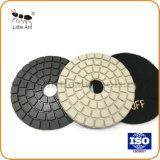 Flexible de 4 pouces de polissage de diamants de couleur chamois Pads Tampon à polir humide
