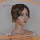 Дешевый половинный парик краткости человеческих волос (PPG-l-01687)