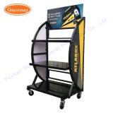 Kleinhochleistungs3 Reihe-Fußboden-Lithium-Autobatterie-Speicher-Ausstellungsstand-Zahnstange
