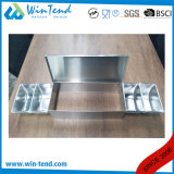 Sostenedor del rectángulo del ingrediente del acero inoxidable con el divisor de los Ss