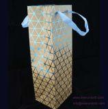 선전용 포도주와 선물 종이 봉지