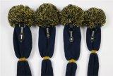 Kundenspezifisches Firmenzeichen 1, 3, 5 hölzernes Golf gestrickter Headcover Verein-Kopf-Deckel mit POM POM