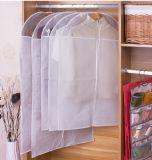 Sacchetto non tessuto lungo del coperchio dell'indumento del vestito di PEVA con la chiusura lampo