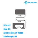 Sport idetification Alien Higgs H3 Inlay seca RFID UHF 9627 feita pela Melzer