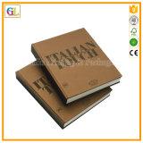 Книга печати книга в твердой обложке обслуживания печатание крышки бумаги Kraft ретро