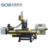 CNC, der für Stahlplatten-gemeinsame Platten locht, markiert u. Bohrmaschine