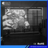P7.8/7.8mm 광고를 위한 높은 광도 LED 투명한 스크린