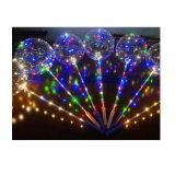 Het Licht Ballon van de HOOFD van Bobo met stick&Bat-Handvat van het Lichtgevende LEIDENE van de Ballons van Inflable van de Schakelaar Decoratie van de Partij de Transparante Huwelijk van de Ballon Opvlammende