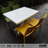 Твердая поверхность белого камня 4-местный квадратный стол для столовой