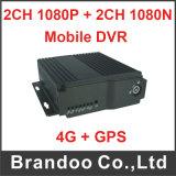 Vigilância de veículos 1080P 4G 4CH Bus GPS 1080n carro DVR Móvel