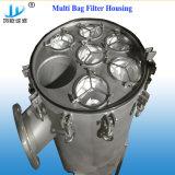 飲料水およびRO水のための5t/H -100 T/H SS304/316のバッグフィルタハウジング