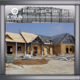 Estructura de acero prefabricada que construye el chalet móvil de 2 suelos para las oficinas temporales
